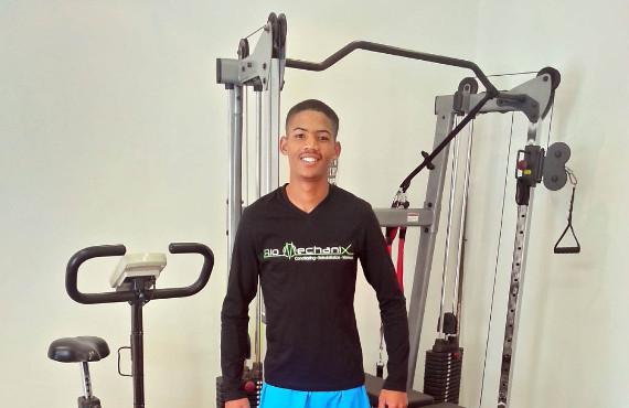 Raydon Balie training at Bio MechaniX
